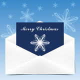 Envelope with greeting card for Christmas Royalty Free Stock Photo