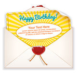 Envelope with Greeting Card Royalty Free Stock Photo