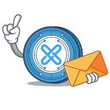 With envelope Gxshares coin character cartoon. Vector illustration Stock Photography