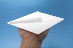 Envelope and hand Royalty Free Stock Image