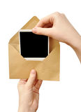 Envelope in the hand Royalty Free Stock Photo