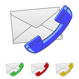 Envelope with Handset Icon Royalty Free Stock Images