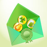 Envelope happiness Royalty Free Stock Photos