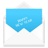 Envelope happy new year Royalty Free Stock Photo