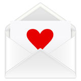 Envelope heart Royalty Free Stock Image