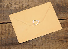 Envelope and heart. Stock Image
