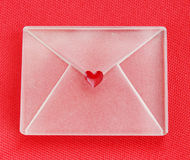 Envelope with heart Royalty Free Stock Photo