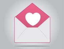 Envelope Heart Stock Images