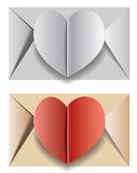 An envelope with the heart Stock Images