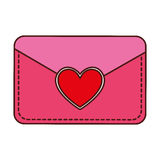 Envelope with heart card Royalty Free Stock Photo