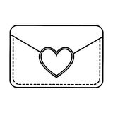 Envelope with heart card Stock Photo