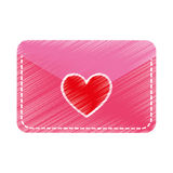 Envelope with heart card Stock Photography