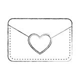 Envelope with heart card Stock Images