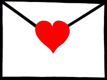 Envelope with heart Royalty Free Stock Image