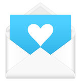 Envelope with heart symbol Royalty Free Stock Photo