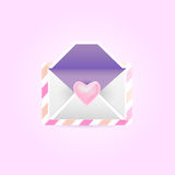 Envelope with heart Stock Photography