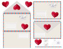 Envelope with heart, vector illustration Stock Image