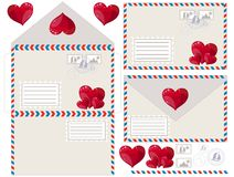 Envelope with heart, vector illustration Stock Photo