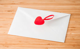 Envelope with heart Stock Photo