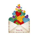Envelope with hearts Stock Image