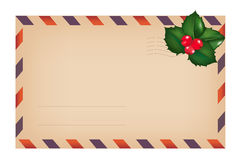 Envelope With Holly Berry. Vector Royalty Free Stock Photography