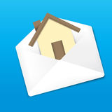 Envelope and Home Stock Image