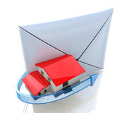 Envelope and the house Royalty Free Stock Photography