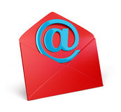Envelope icon. 3d image. White background vector illustration