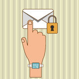 Envelope icon design, vector illustration Stock Images