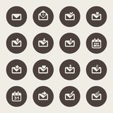 Envelope icon. Email design Stock Images