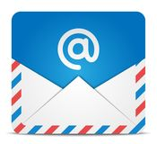 Envelope icon with message. Vector Illustration Royalty Free Stock Photography