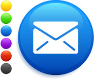 Envelope icon on round internet button Stock Image