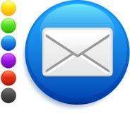 Envelope icon on round internet button Stock Photos