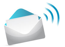 Envelope Icon with RSS Sign Stock Photos