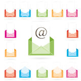 Envelope icon. vector illustration Stock Photo