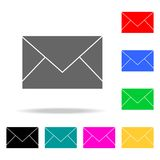 the envelope icons. Elements of human web colored icons. Premium quality graphic design icon. Simple icon for websites, web design stock illustration