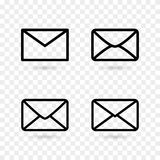 Envelope icons Stock Photography