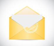 Envelope illustration design Royalty Free Stock Image