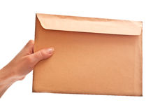 Envelope In Woman S Hand Royalty Free Stock Image