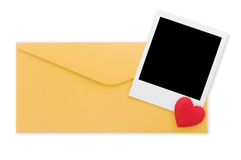Envelope and instant photo Royalty Free Stock Images