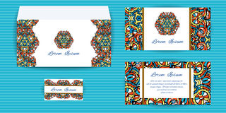 Envelope, Invitation and Visit Card Stock Photo