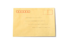 Envelope isolated on white Royalty Free Stock Photography