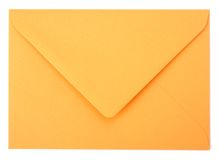 Envelope isolated on the white background Stock Image