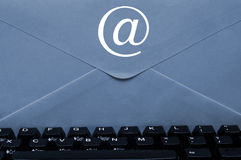Envelope on keyboard Stock Image