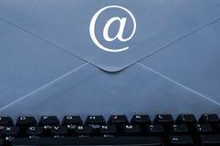 Envelope on keyboard Stock Image