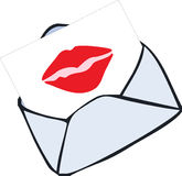 Envelope with kiss Royalty Free Stock Image