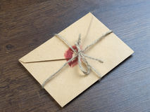 Envelope with a kiss Royalty Free Stock Image