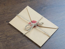 Envelope with a kiss Royalty Free Stock Photos