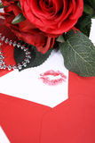 Envelope with a kiss Stock Photography