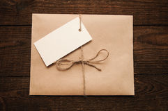 Envelope from kraft pape Royalty Free Stock Image